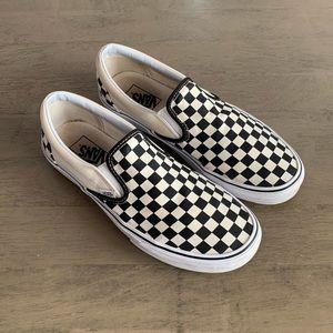 Vans | Checkered Black/White Slip On Sneakers
